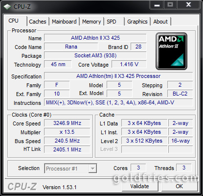 AMD Athlon II X3 425 Processor Review