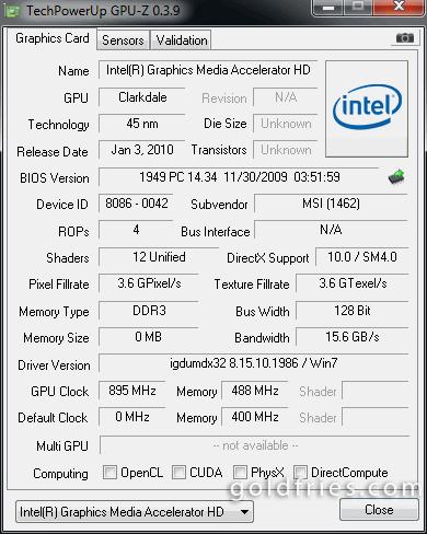 Intel Core i3-530 Processor IGP Review