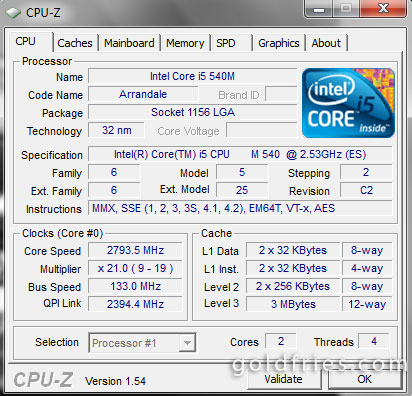 Intel Core i5-540m Processor Review