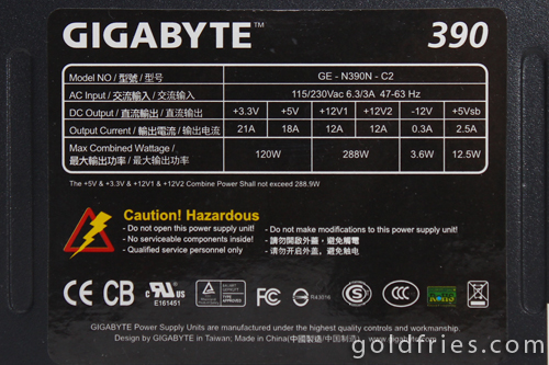 Gigabyte PoweRock 390w Power Supply Review
