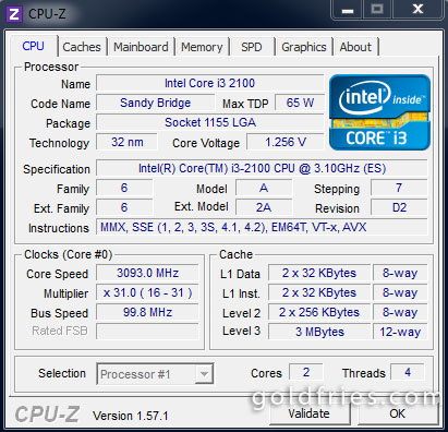 Intel Core i3-2100 Desktop Processor Review