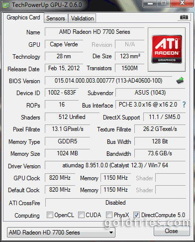 Asus HD7750-DC-1GD5 (Radeon HD 7750) Graphic Card Review
