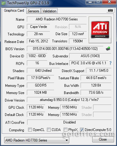 Asus HD7770-DC-1GD5 (Radeon HD 7770) Graphic Card Review
