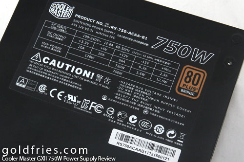 Cooler Master GXII 750W Power Supply Review