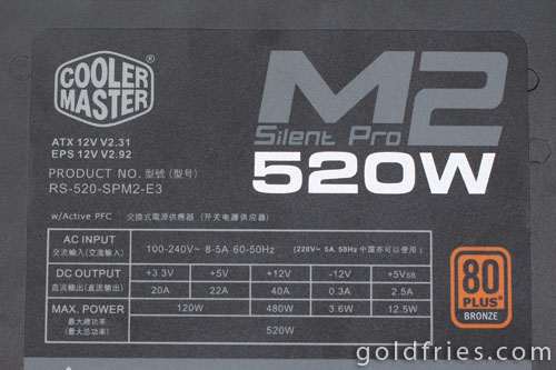 Cooler Master Silent Pro M2 520W (RS-520-SPM2) Power Supply Review