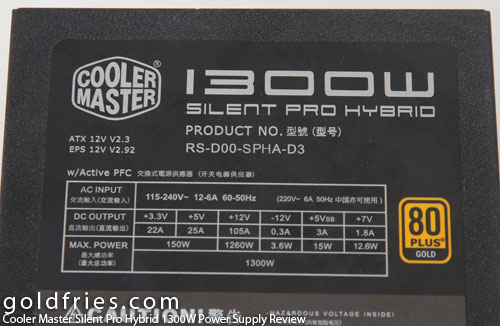 Cooler Master Silent Pro Hybrid 1300W Power Supply Review