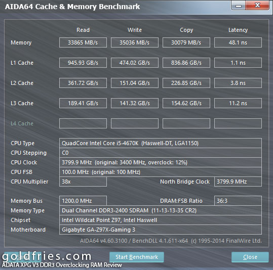 ADATA XPG V3 2400 MHz (8GB Kit) DDR3 Overclocking RAM Review