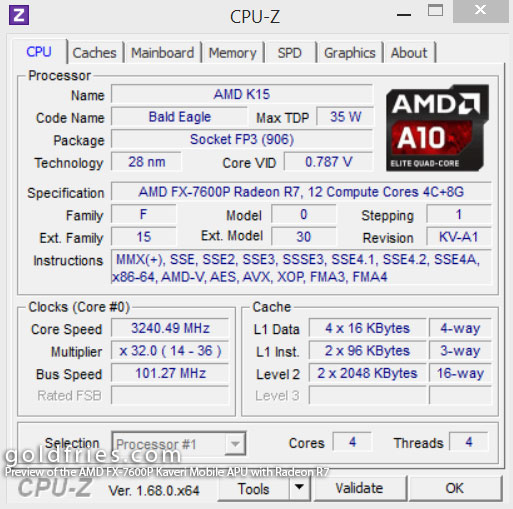 Preview of the AMD FX-7600P Kaveri Mobile APU with Radeon R7 GPU