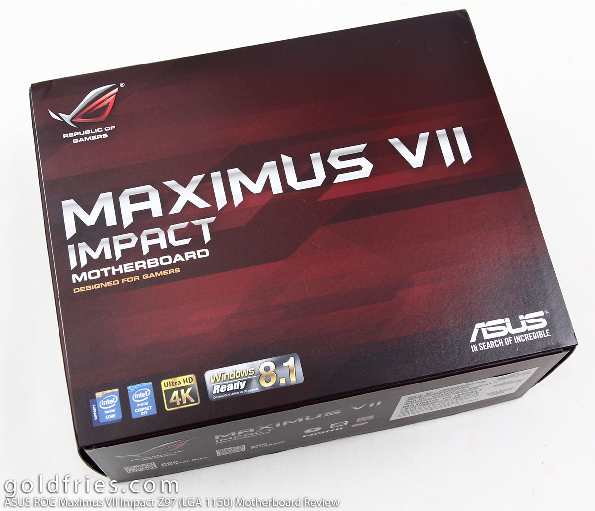 ASUS ROG Maximus VII Impact Z97 (LGA 1150) Mini-ITX Motherboard Review