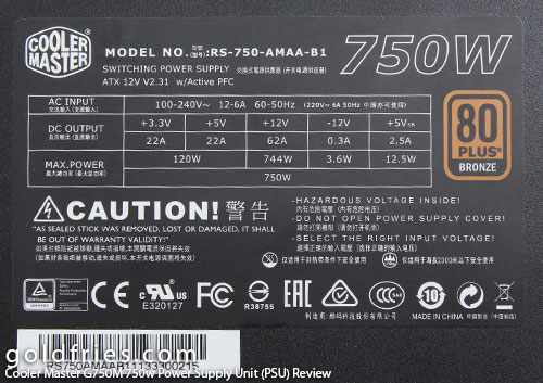 Cooler Master G750M 750w Power Supply Unit (PSU) Review