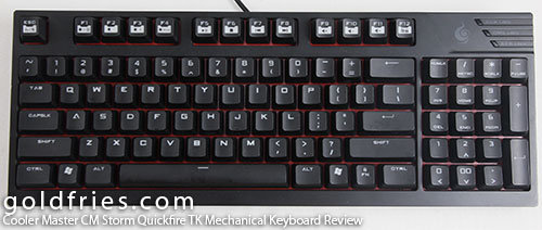 Cooler Master CM Storm Quickfire TK Mechanical Keyboard Review