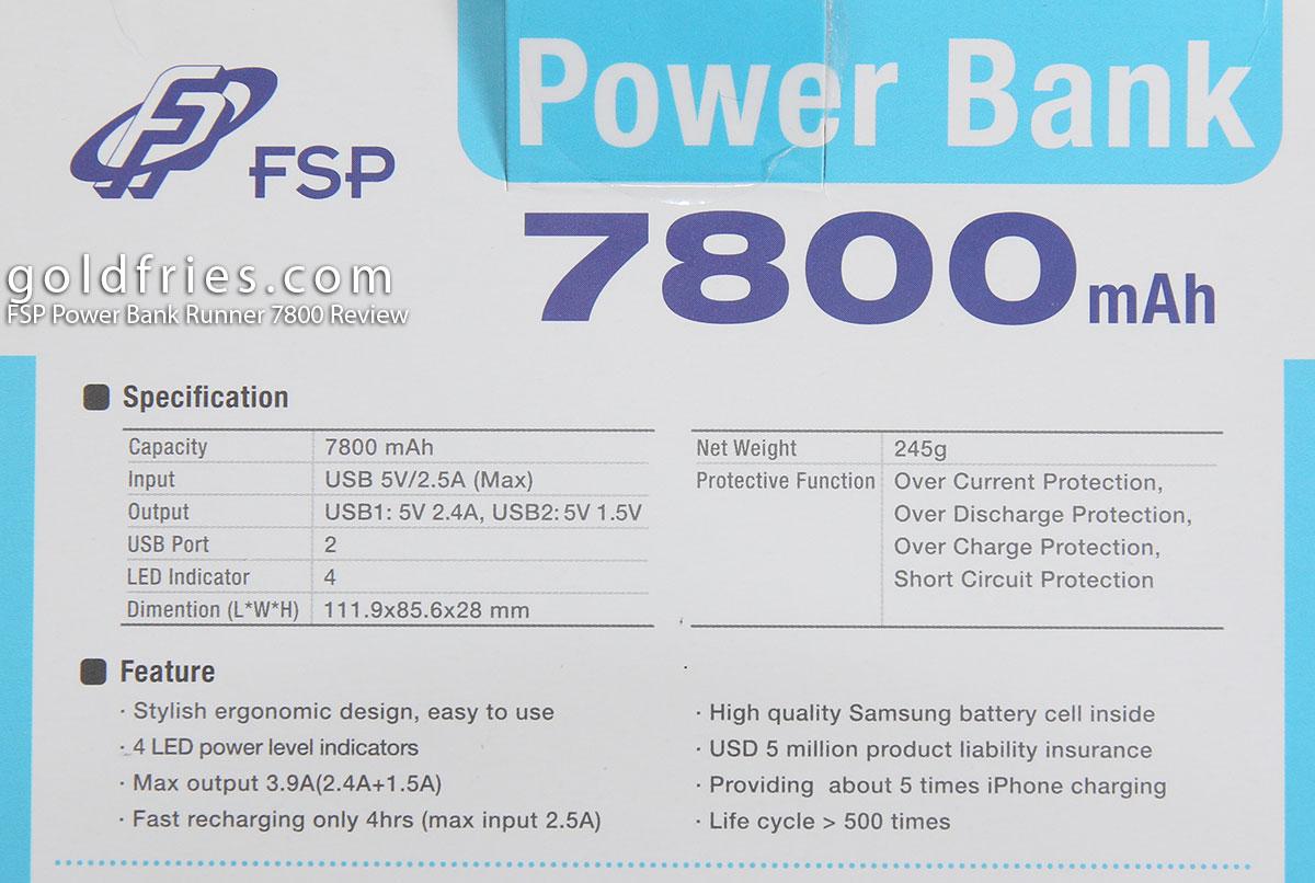 FSP Power Bank Runner 7800 Review