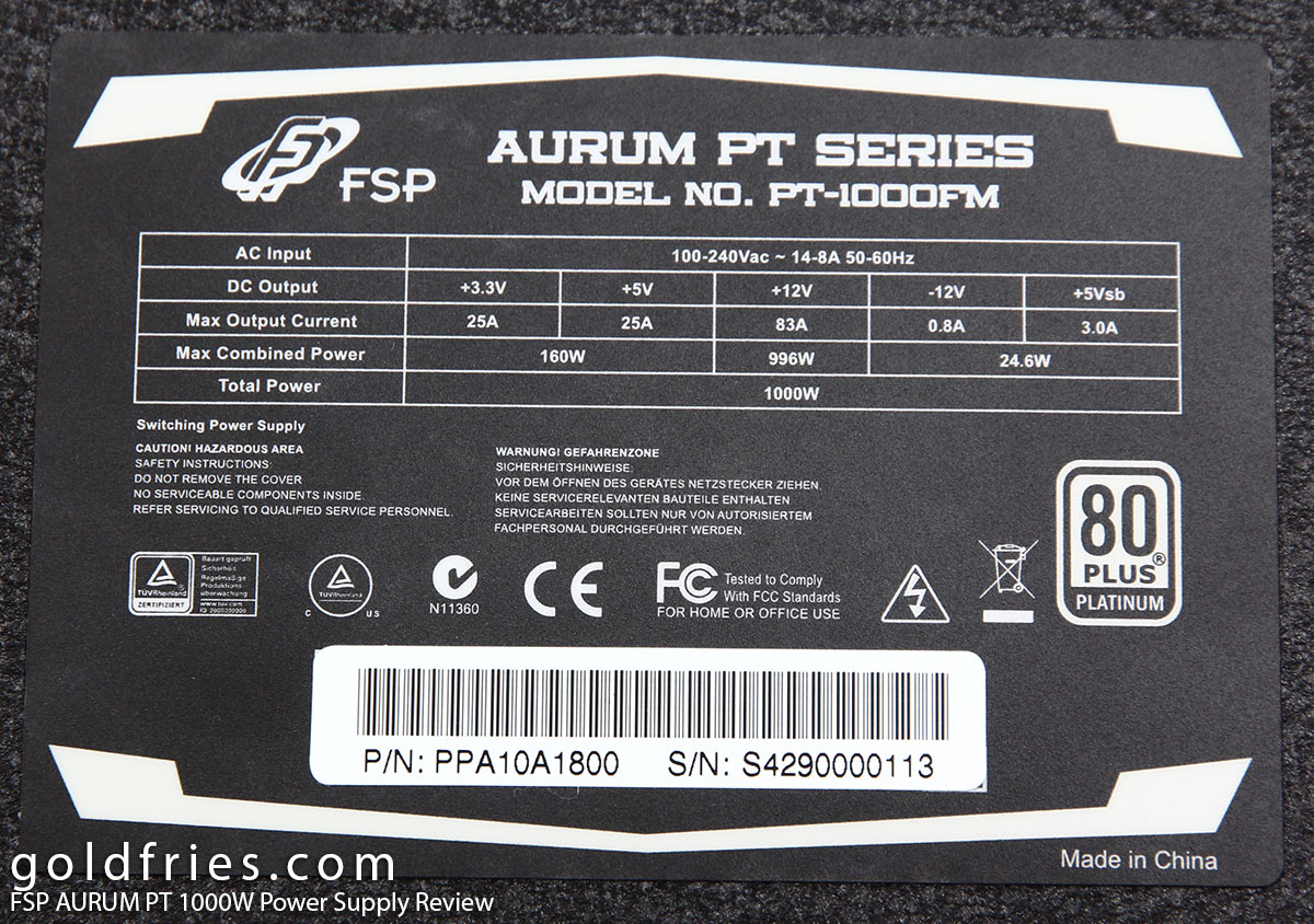 FSP AURUM PT 1000W Power Supply Review