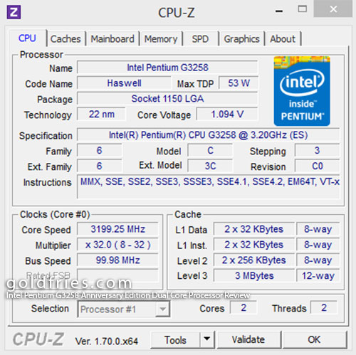 Intel Pentium G3258 Anniversary Edition Dual Core Processor Review