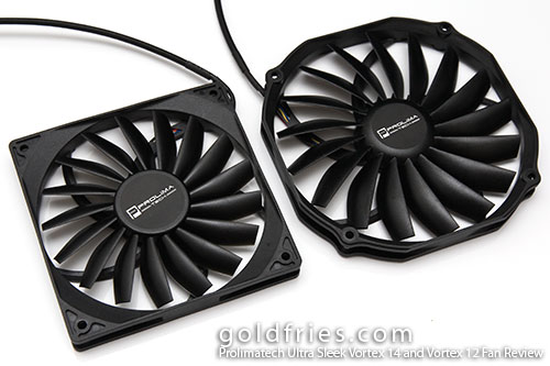 Prolimatech Ultra Sleek Vortex 14 and Vortex 12 System Fan Review
