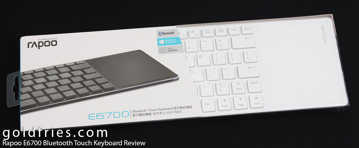Rapoo E6700 Bluetooth Touch Keyboard Review