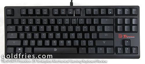 TteSPORTS Poseidon ZX Tenkeyless Mechanical Gaming Keyboard Review