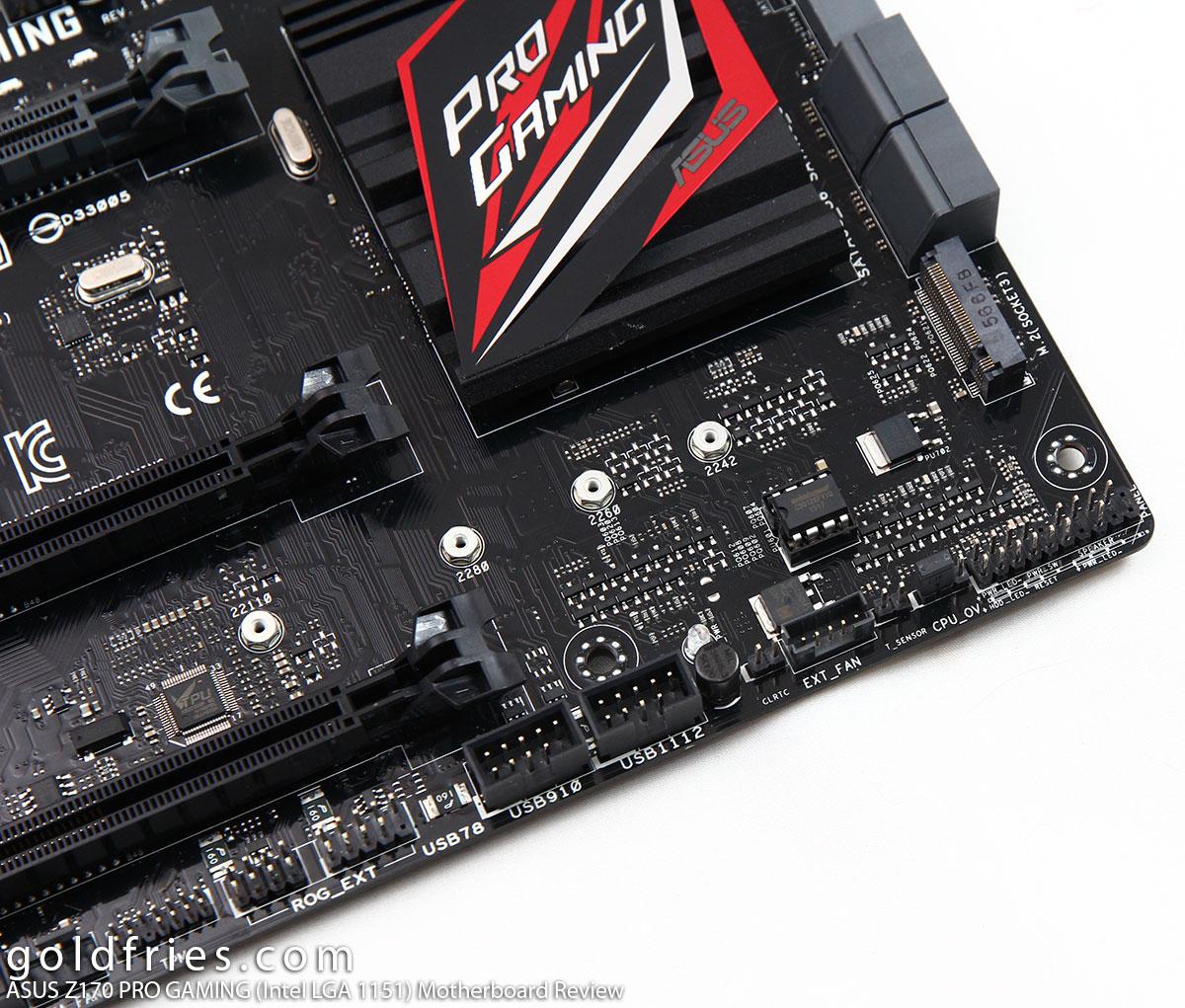 ASUS Z170 PRO GAMING (Intel LGA 1151) Motherboard Review ~ goldfries