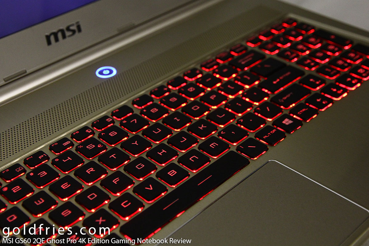 MSI GS60 2QE Ghost Pro 4K Edition Gaming Notebook Review
