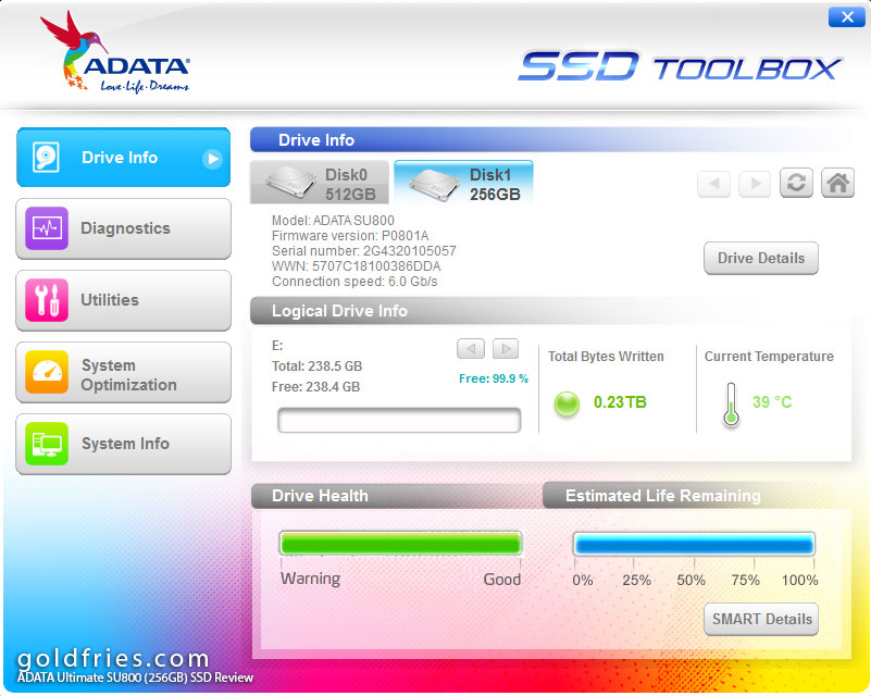 ADATA Ultimate SU800 (256GB) SSD Review