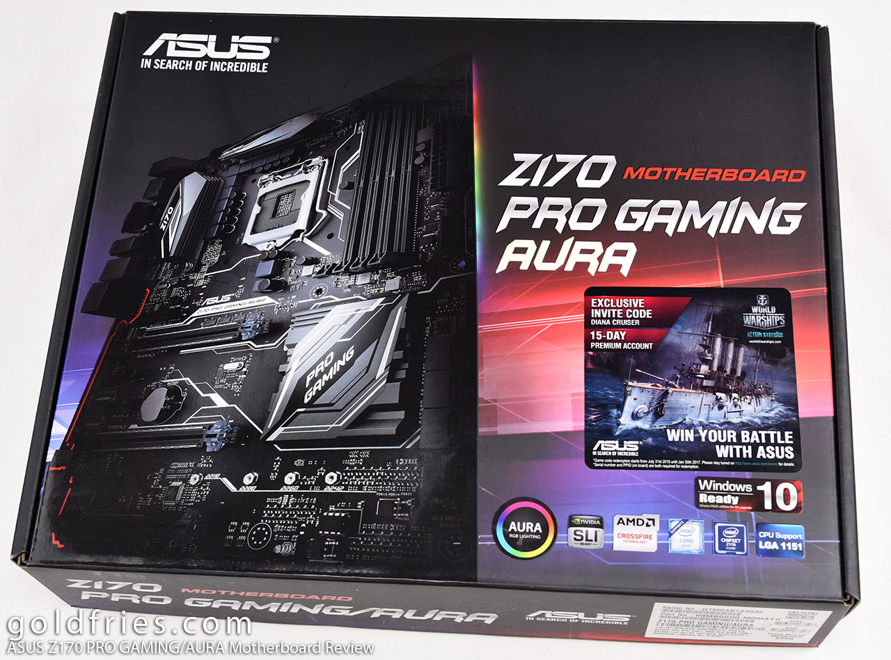 ASUS Z170 PRO GAMING/AURA Motherboard Review