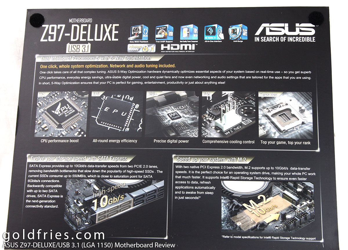 ASUS Z97-DELUXE/USB 3.1 (LGA 1150) Motherboard Review