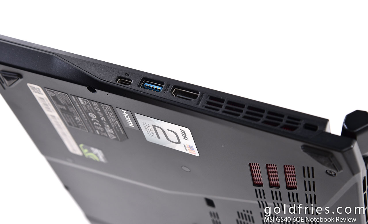 MSI GS40 6QE Notebook Review