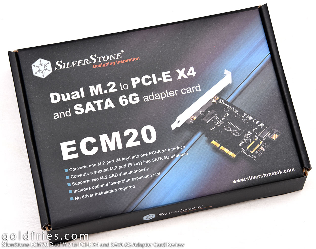 SilverStone ECM20 Dual M.2 to PCI-E X4 and SATA 6G Adapter Card Review