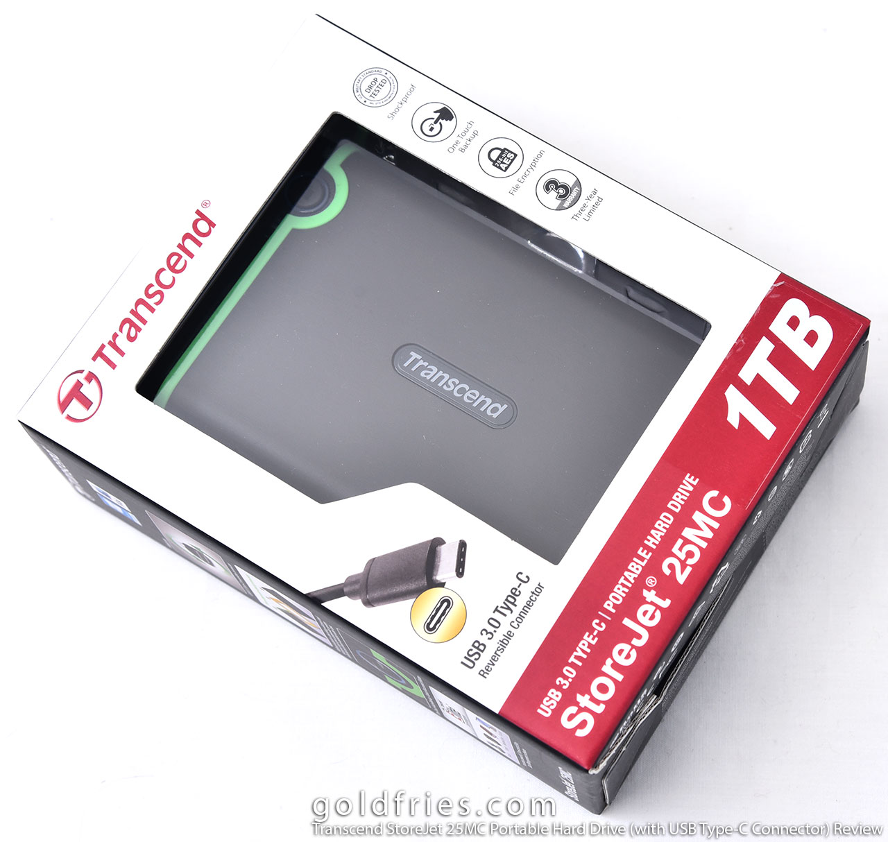 Transcend StoreJet 25MC Portable Hard Drive (with USB Type-C Connector) Review