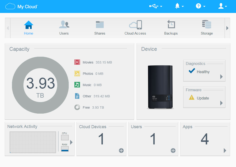 WD My Cloud EX2 Ultra NAS Storage Review