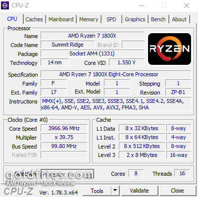 AMD Ryzen 7 1800X Review