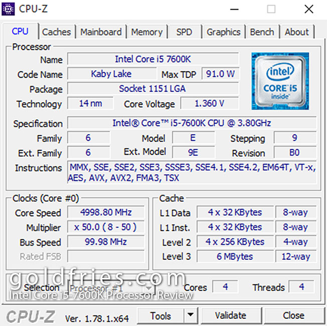 Intel Core i5-7600K Processor Review