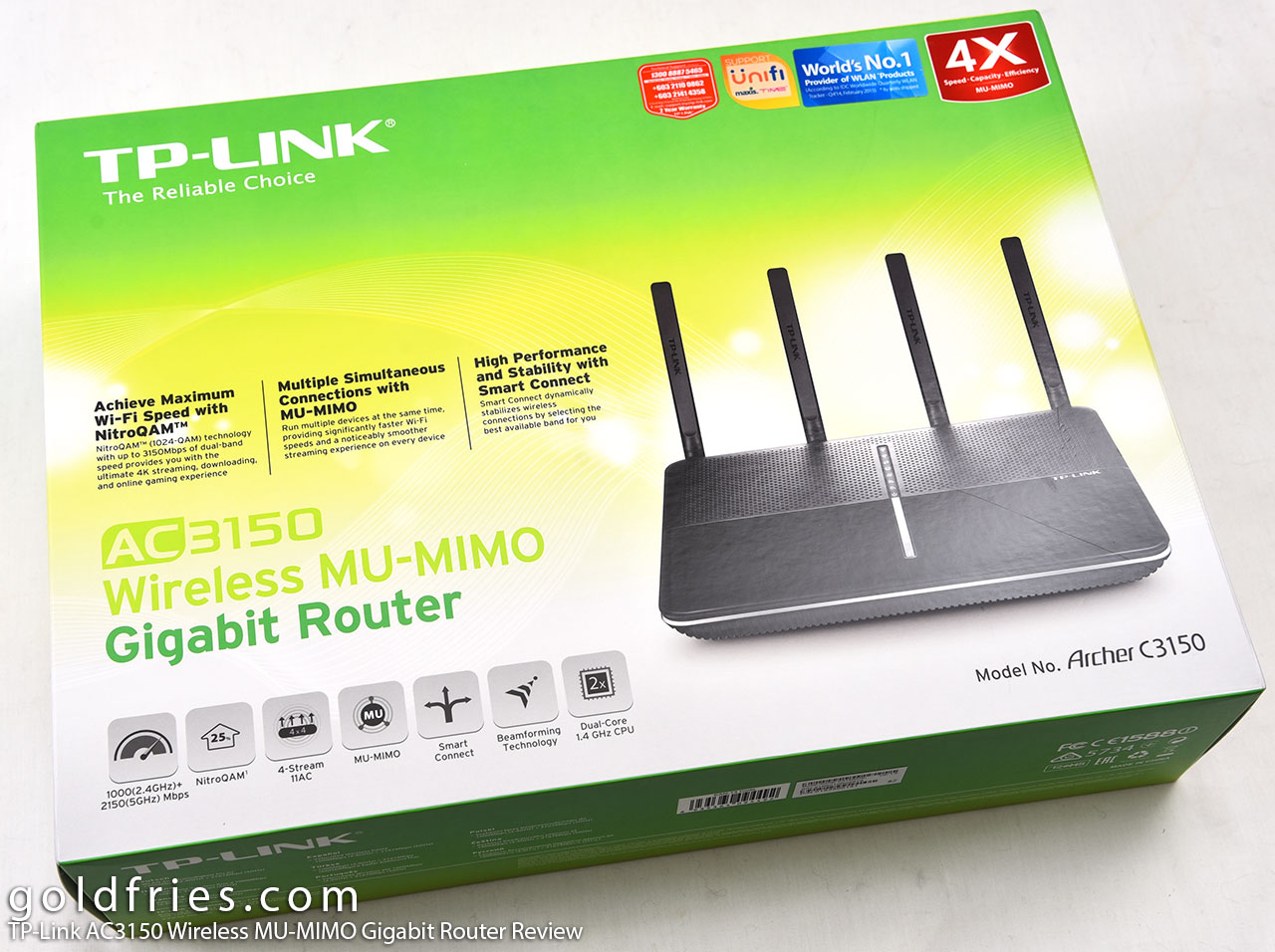 TP-Link AC3150 Wireless MU-MIMO Gigabit Router Review