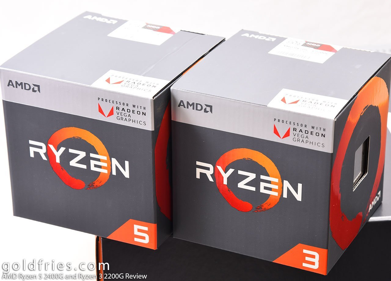 AMD Ryzen 5 2400G and Ryzen 3 2200G Review