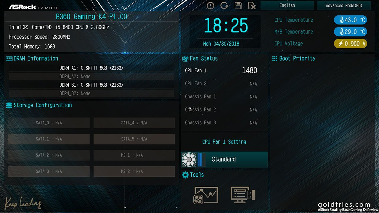 ASRock Fatal1ty B360 Gaming K4 Review ~ goldfries