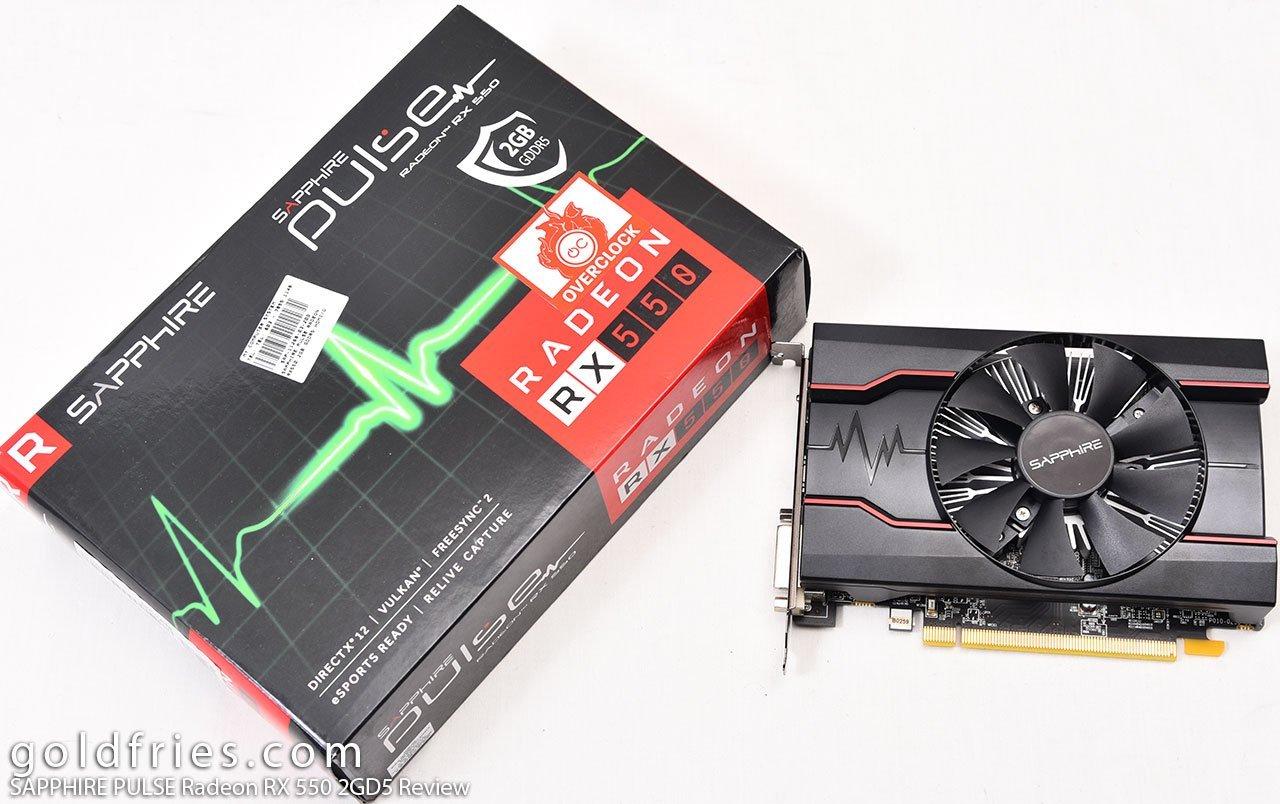 SAPPHIRE PULSE Radeon RX 550 2GD5 Review ~ goldfries