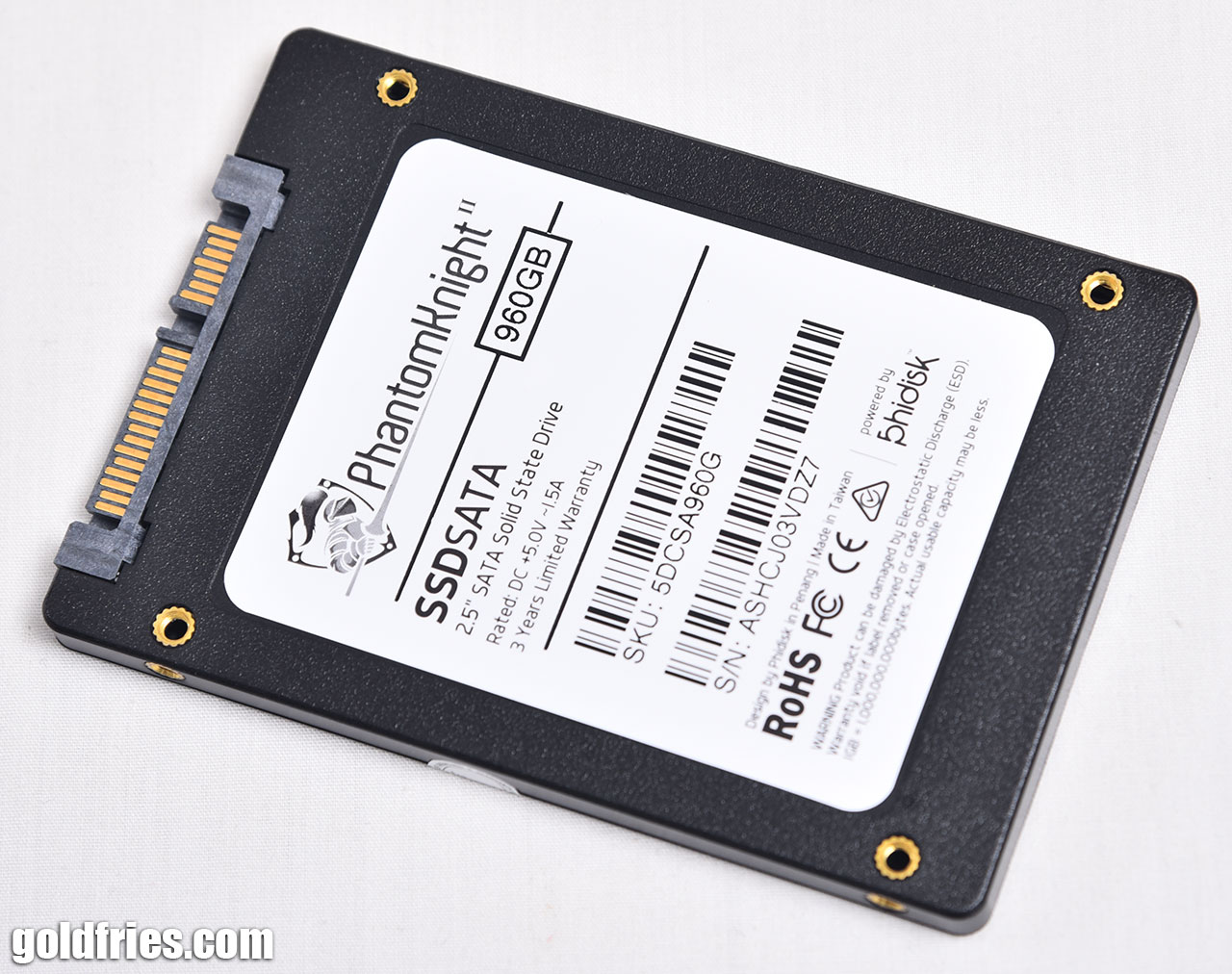 Phidisk PhantomKnight 960GB SSD Review