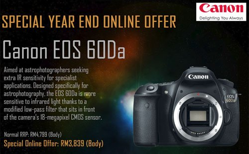 Canon Malaysia's Special Year End Online Offer for EOS 60Da!  1
