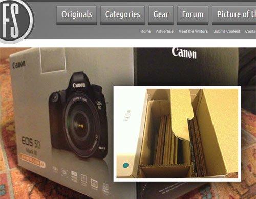 New 5D Mark III Box Arrives Full of Laminate Flooring, No Camera 5