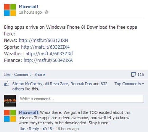 Bing Finance: Microsoft Adds 4 Bing Apps (News, Sports, Weather, Finance