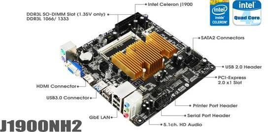 BIOSTAR Introduces the J1900NH2 Mini-ITX Motherboard 3