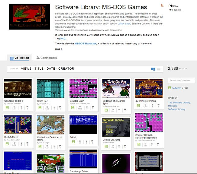 Play over 2,000 Classic MS-DOS Games For FREE 1