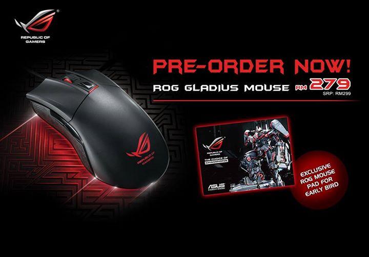ASUS ROG Gladius Mouse Pre-Order 3