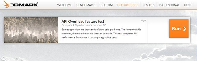 Test Driving the API Overhead Feature Test on 3DMark