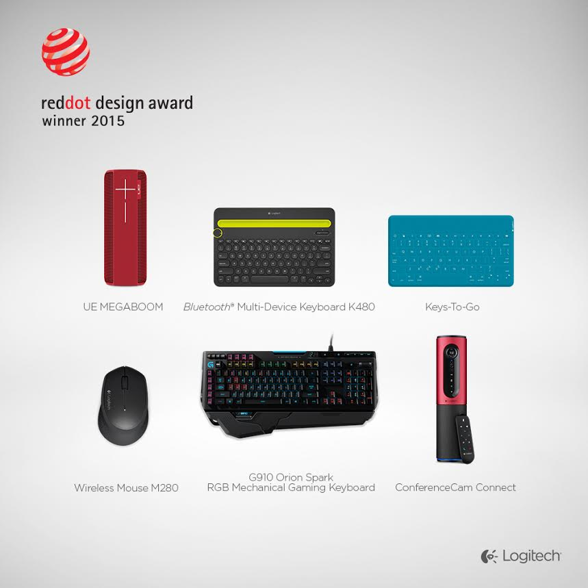 Six Logitech Products Recognized With A Red Dot 2015 Product Design