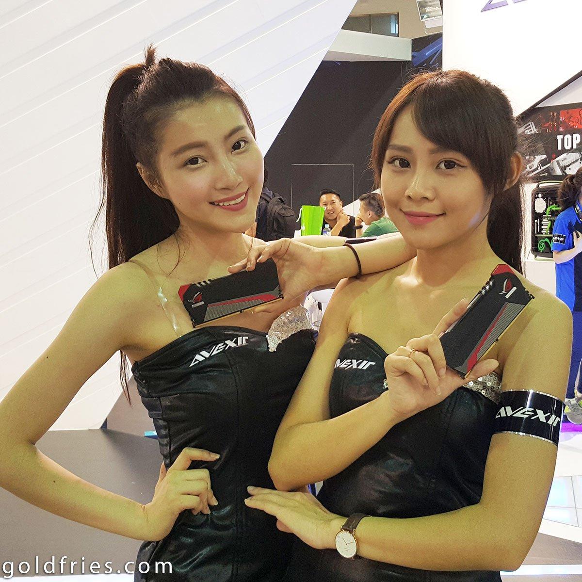Booth Babes at Computex 2015
