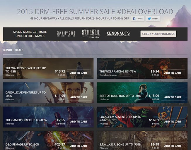 2015 DRM-FREE Summer Sale at GOG 5