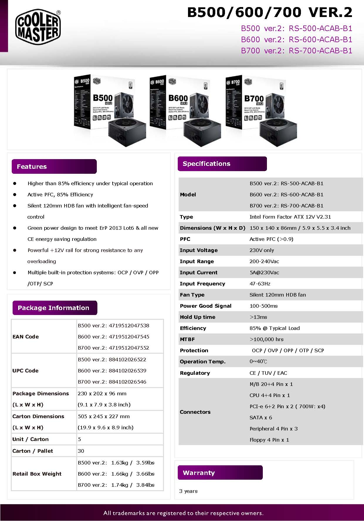Cooler Master B-series ver.2 Power Supplies Now Available in Malaysia 3