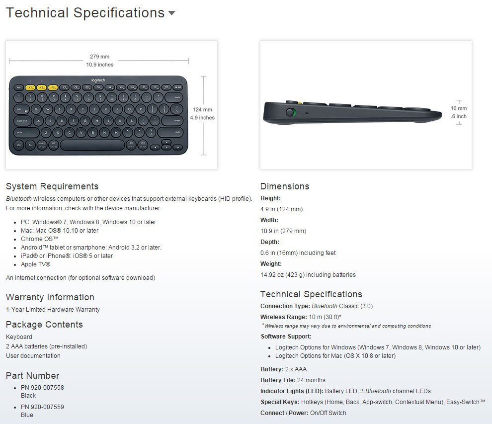 Logitech Launched the K480 Bluetooth Keyboard and M337 Bluetooth Mouse 1