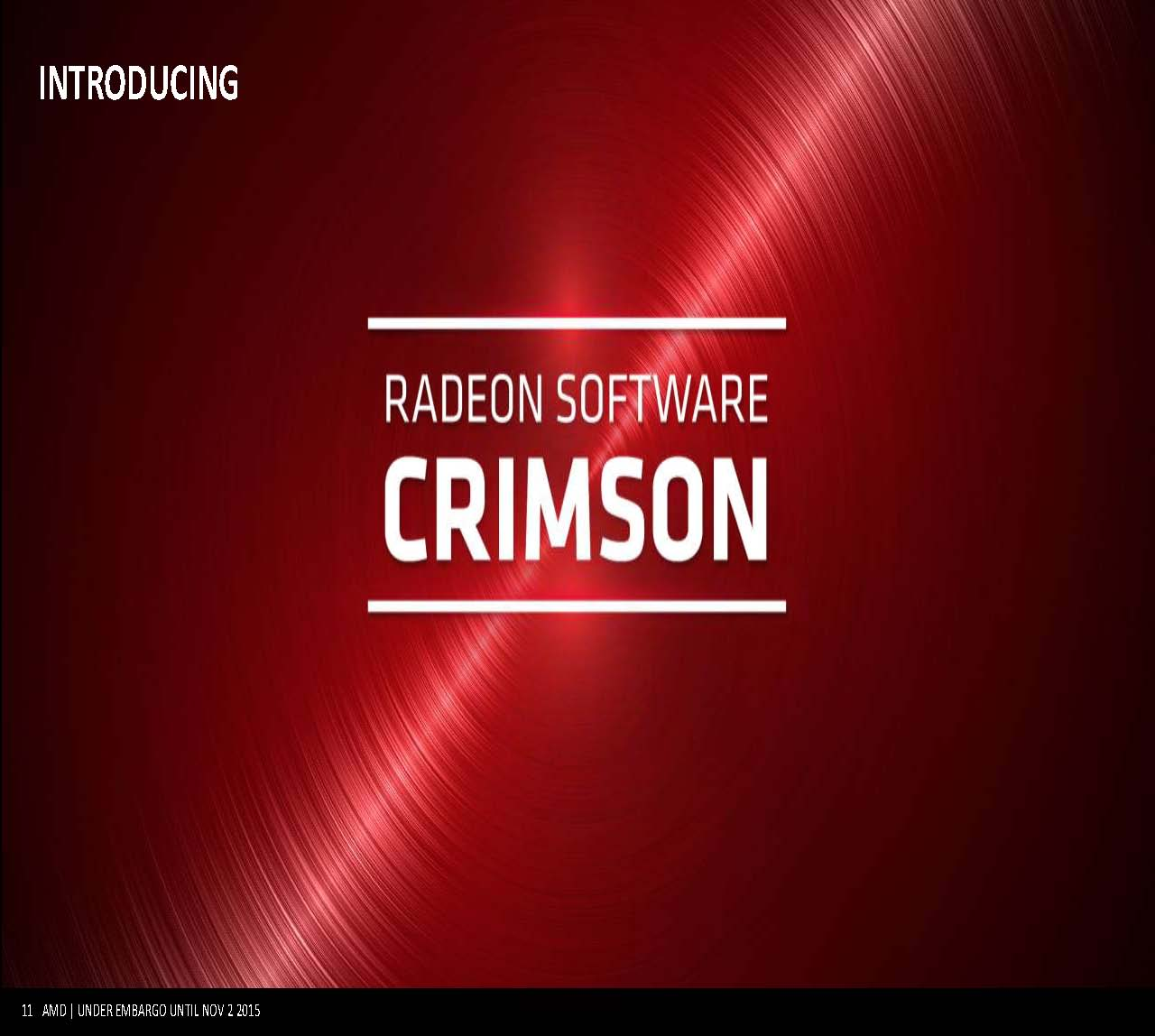 Bye Bye AMD Catalyst, Hello AMD Radeon Software Crimson Edition 1